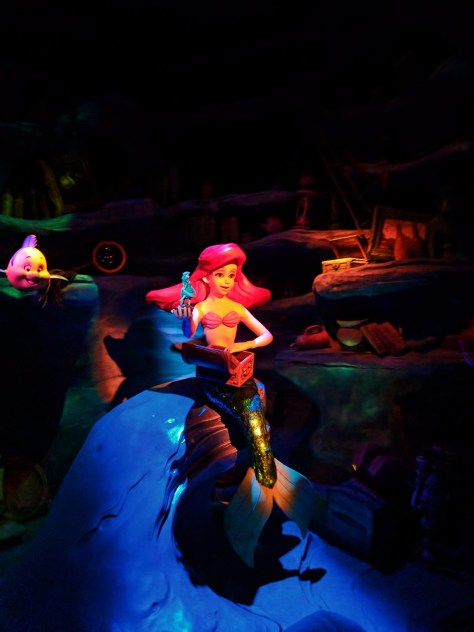 Ariel inside Little Mermaid ride Disneys California Adventure 1