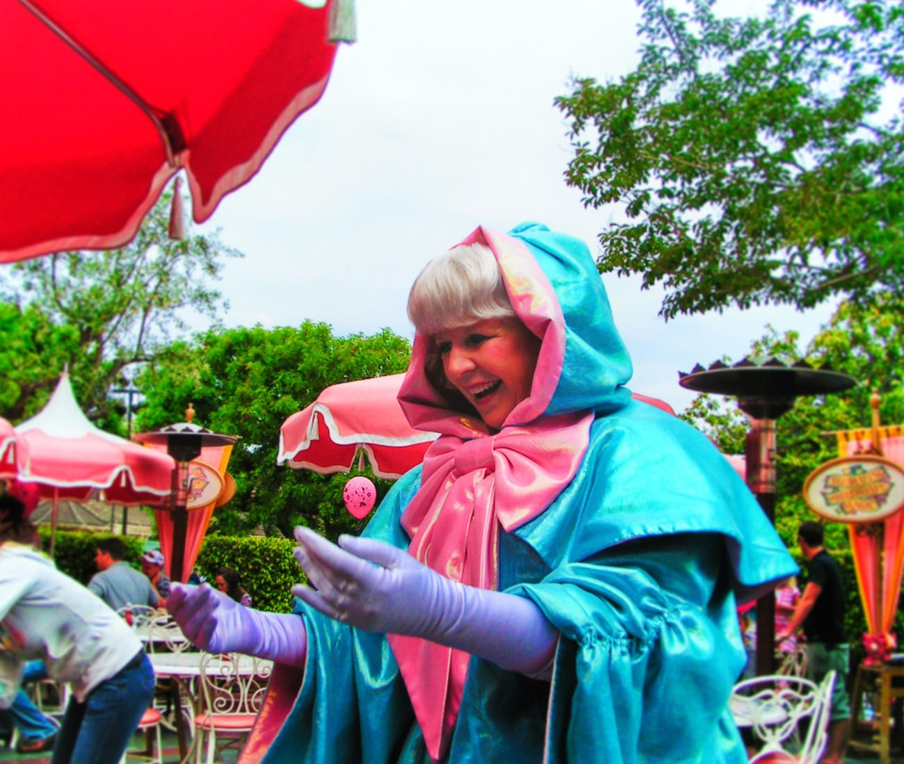 Fairy Godmother at Plaza Inn Character Dining Main Street USA Disneyland 1