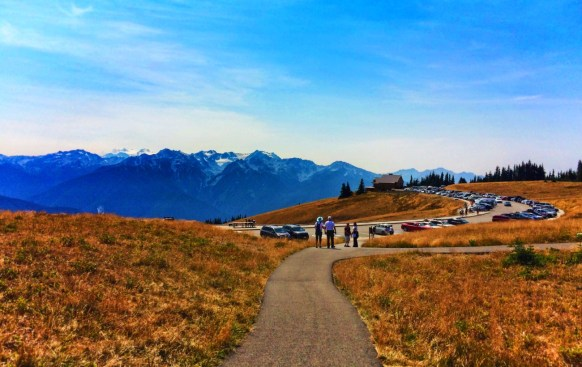Hiking Trail and Visitors Center at Hurricane Ridge Olympic National Park 2