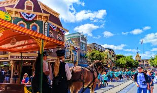 Horse drawn trolley on Mainstreet USA Disneyland 2