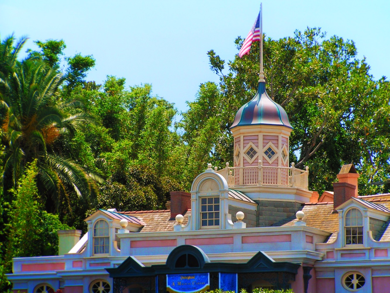 New Orleans Square from Tarzans Treehouse Adventureland Disneyland 2