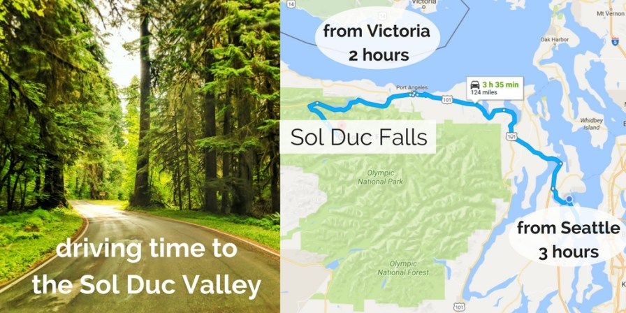 Sol Duc Falls Olympic National Park Map