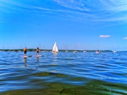 Stand Up Paddleboarding SUP on Lake Mendota Madison Wisconsin 3