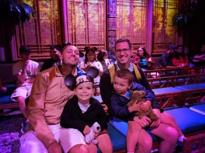 Taylor Family at Tiki Room Adventureland Disneyland 1