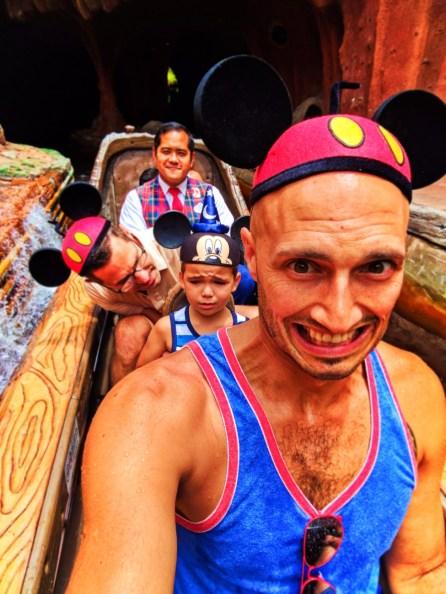 Taylor Family on Splash Mountain Critter Country Disneyland 1
