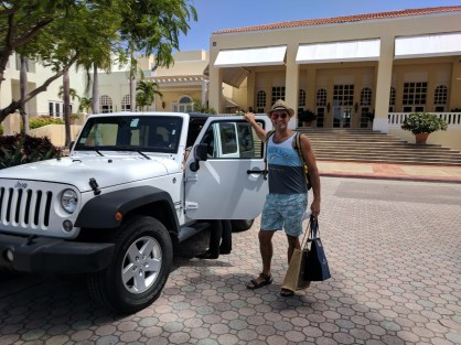 Rob Taylor with Jeep at El Conquistador Puerto Rico