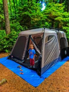 Taylor Family camping at Kalaloch Olympic National Park 1