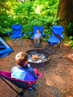 Taylor Family camping at Kalaloch Olympic National Park 5
