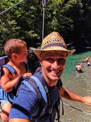 Taylor Family hiking Grove of the Patriarchs Mt Rainier National Park 7
