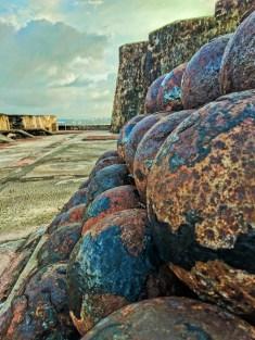 Cannon balls at Castillo San Cristobal Old San Juan National Historic Site Puerto Rico 1