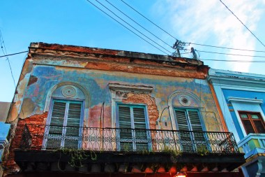 Colorful row houses in Old San Juan Puerto Rico 6