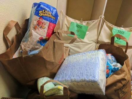 Diaper Need supply bundles at WestSide Baby National Diaper Bank Network Huggies 3