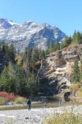 Taylor Family at Running Eagle Falls Two Medicine Glacier National Park