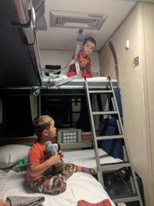 Taylor Family on Amtrak Empire Builder