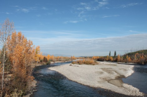 North Fork Flathead River Polebridge Glacier National Park