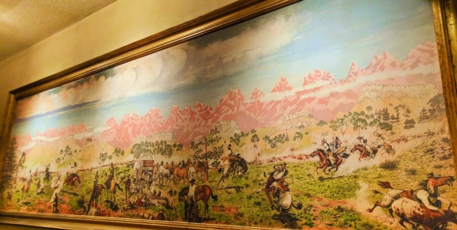 Old West painting at Far Western Tavern Orcutt Santa Maria Valley 1