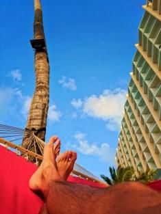 View from hammock at Condado Plaza Hilton San Juan Puerto Rico 1