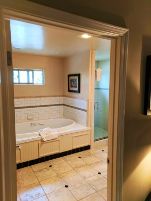 Bungalow Bathroom at Cambria Pines Lodge California Central Coast 1