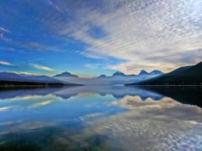 Morning reflection on Lake McDonald Glacier National Park 10