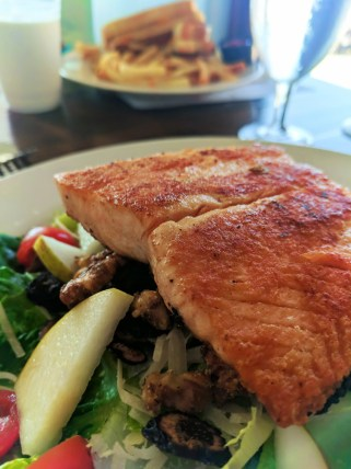 Salmon Salad at Centrally Grown Restaurant Cambria Central Coast 1
