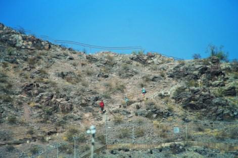 Family Hiking A Mountain ASU Campus Tempe 1