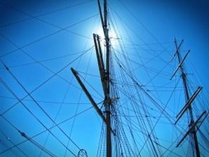 Ship masts at San Francisco Maritime National Historic Park 1