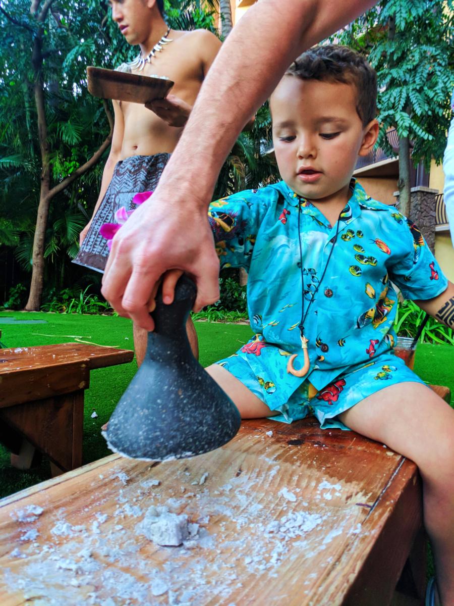 Taylor Family at Ka Waa Luau Disney Aulani Oahu 8