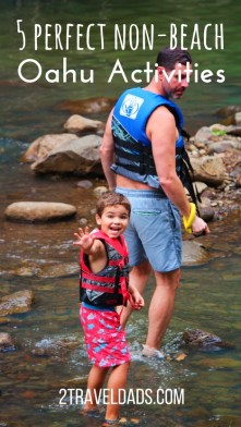 There are plenty of non-beach activities on Oahu to create an unforgettable family Hawaiian vacation. From hiking to waterfalls in the jungle to Hawaiian food, so much to do and see around Oahu away from the beach. 2traveldads.com