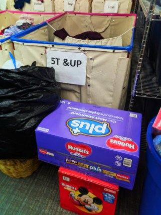 Diaper Need supply bundles at WestSide Baby National Diaper Bank Network Huggies 5