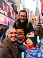 Taylor Family in Times Square in NYC
