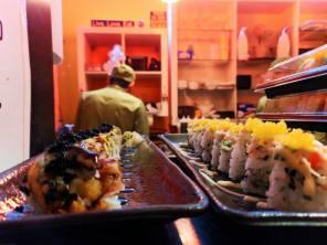 Sushi rolls at Rollapalooza Boystown Chicago 1
