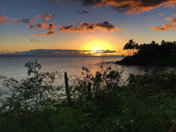 Sunset at Poipu Koloa on Kauai ALaBadie 2TD writer 1