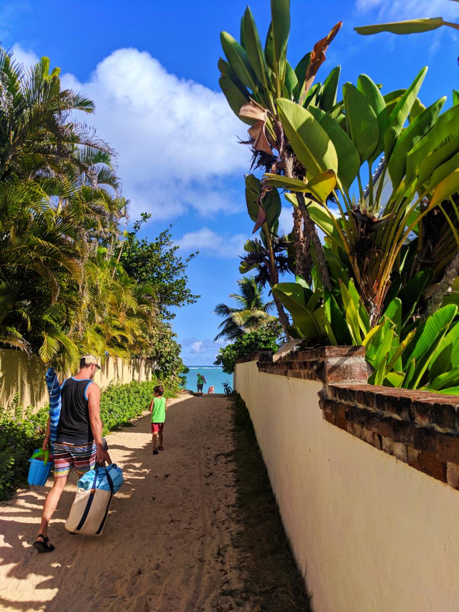 Taylor family at beach Lanikai Kailua Oahu 22
