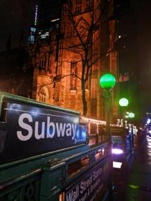 Trinity Church Wall Street Subway station Lower Manhattan NYC 1