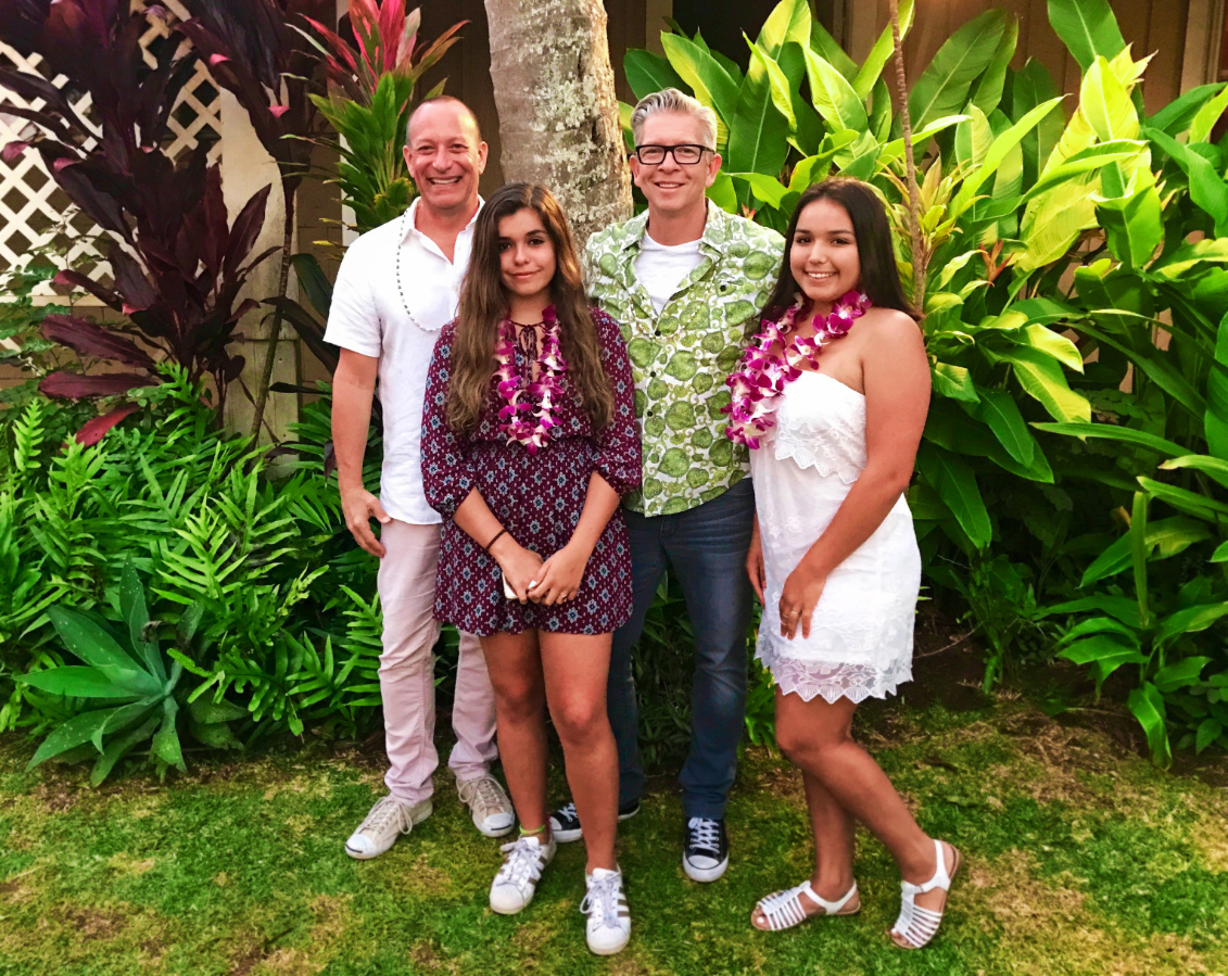 2DadsWithBaggage family on Kauai Hawaii 1