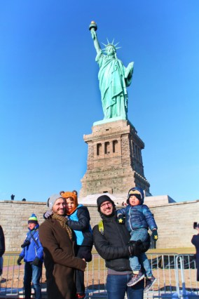 Taylor Family With Statue of Liberty on Liberty Island New York City 1