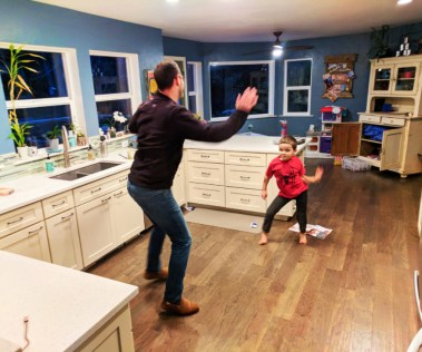 Taylor family dancing at home Self-care 1