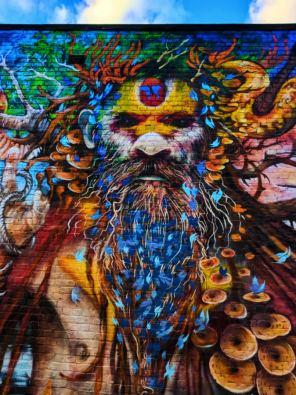 Bengali street art Shorditch London UK 1