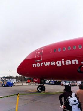 Norwegian Air Boeing 787 Dreamliner at SeaTac 1