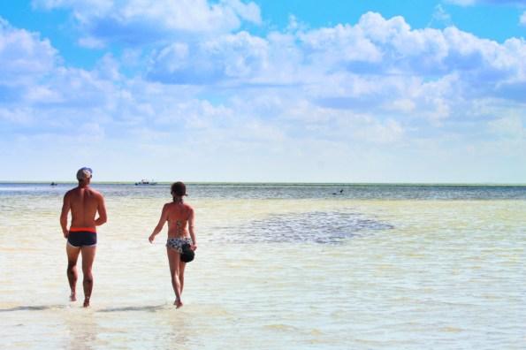 Rob Taylor and Jo Matson at Yum Balam Nature Preserve Isla Holbox Yucatan 4