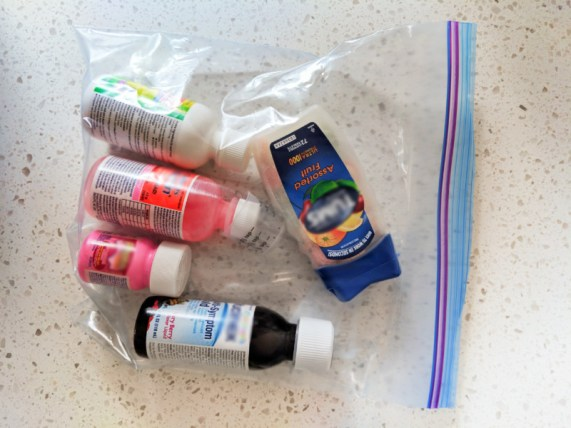 Safe Storage of Travel Products fluids