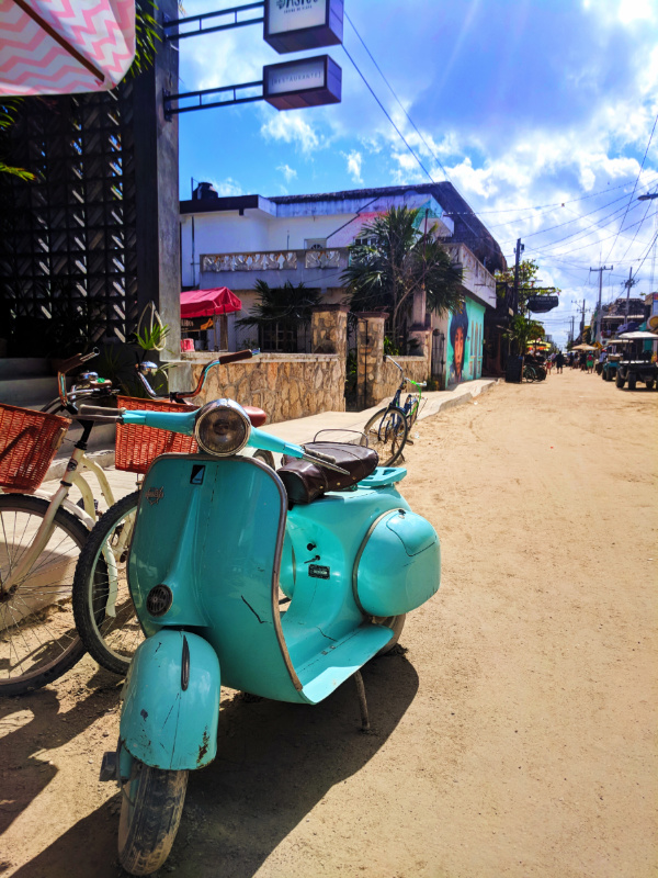 Colorful motorcycle and Street Art Downtown Holbox Isla Holbox Yucatan 6