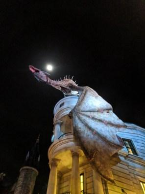 Dragon with Moon Diagon Alley Universal Studios Florida Orlando 5