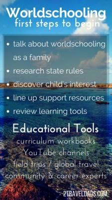 Worldschooling is just as much about experiential learning as it is about travel and traditional education. How to start worldschooling and incorporate travel for learning. 2traveldads.com