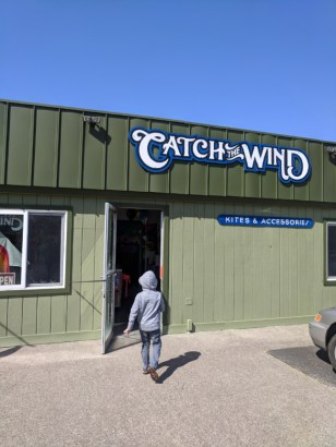 Taylor family in Pacific City Oregon Coast Kite Shop