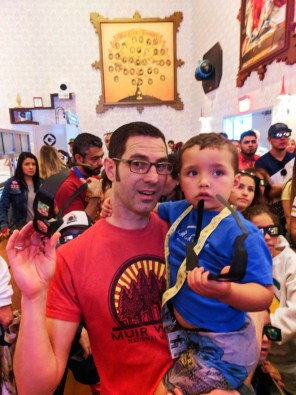 Taylor Family Inside Despicable Me ride at Universal Studios Florida 1