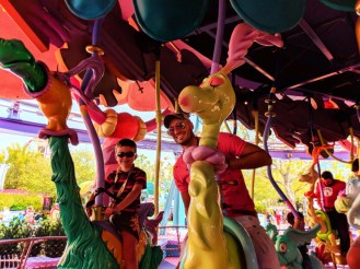 Taylor Family in Seuss Landing Universal Islands of Adventure Orlando 16