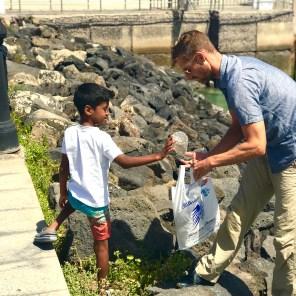 Wind Expedition picking up trash in Correlejo Mediterranean 2