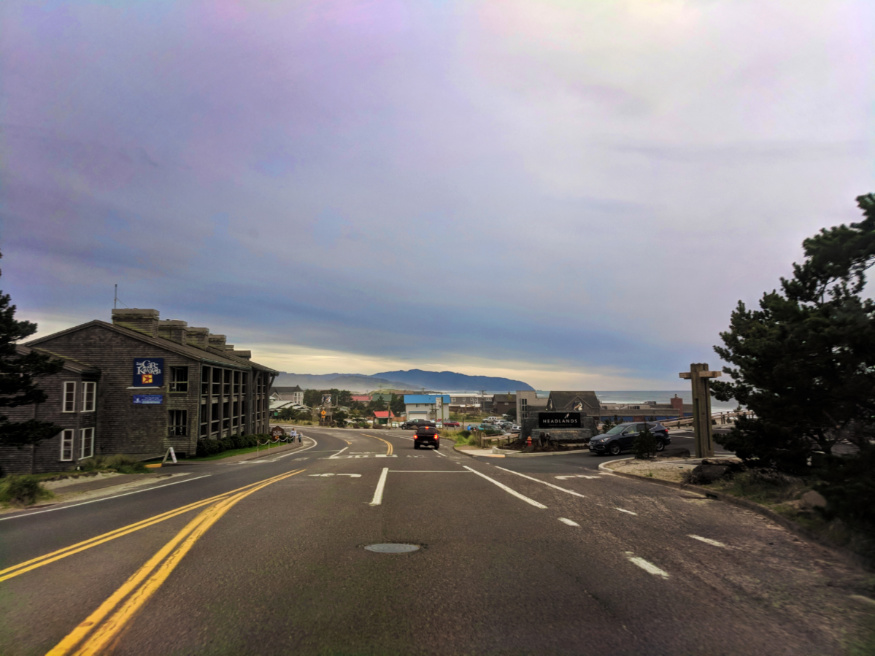 Highway 101 road trip going into Pacific City Oregon Coast 1