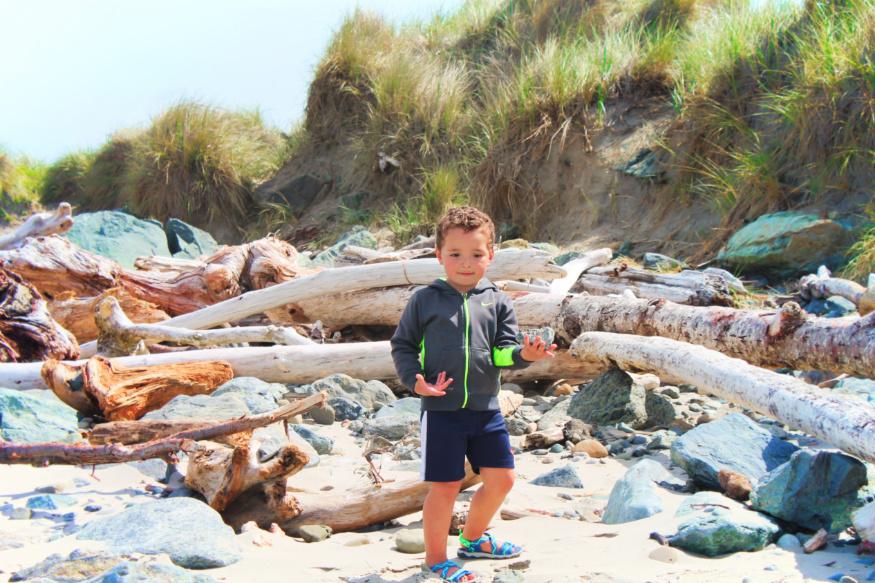 Taylor Family at Bullards Beach State Park Bandon Oregon Coast 10